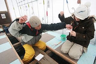 初心者ワカサギ釣り体験