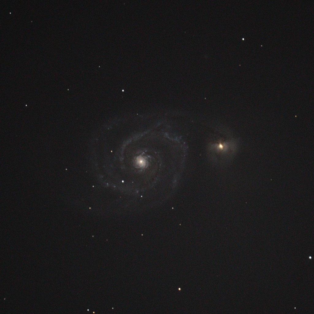 M51子持ち銀河(ペンションカレワラ天文台)