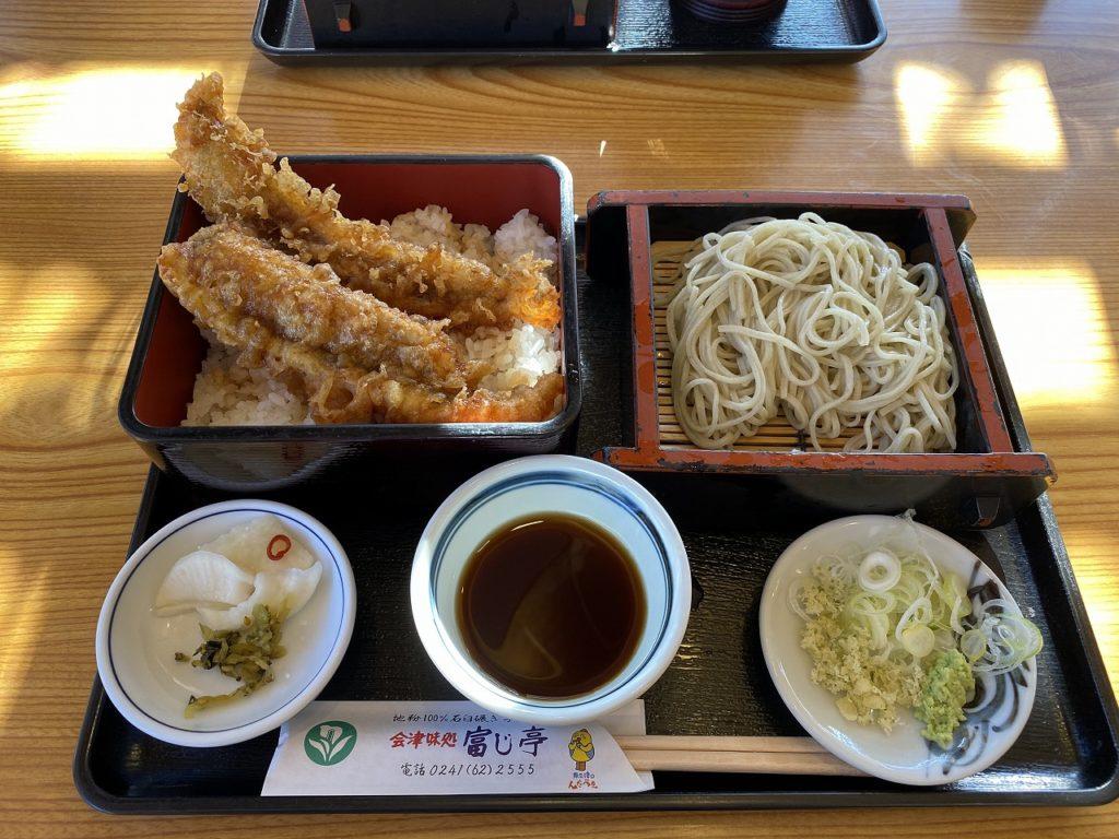 特大穴子天丼森蕎麦付きo(^^o)