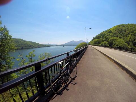 桧原湖をぐるっと一周サイクリング