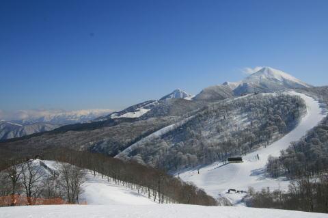 猫魔スキー場からの眺望