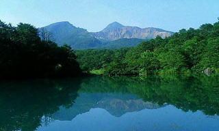 五色沼の風景