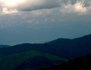 磐梯山から月山