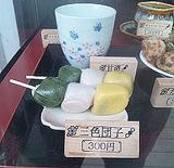 鶴ヶ城三色団子110502