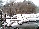 4月20日の雪