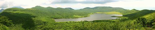 ニッコウキスゲの雄国沼パノラマ