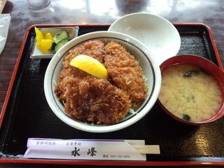 裏磐梯 水峰 ソースカツ丼ヒレバージョン