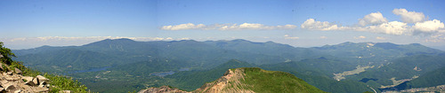 磐梯山から見た吾妻・安達太良連峰パノラマ