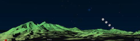 裏磐梯の月食