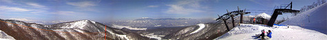 猫魔スキー場ラフューテ山頂絶景