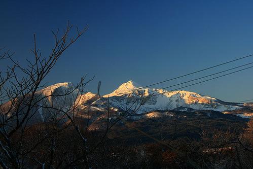 磐梯山朝焼け