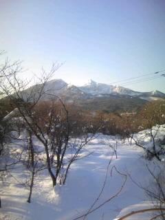 裏磐梯から見た磐梯山