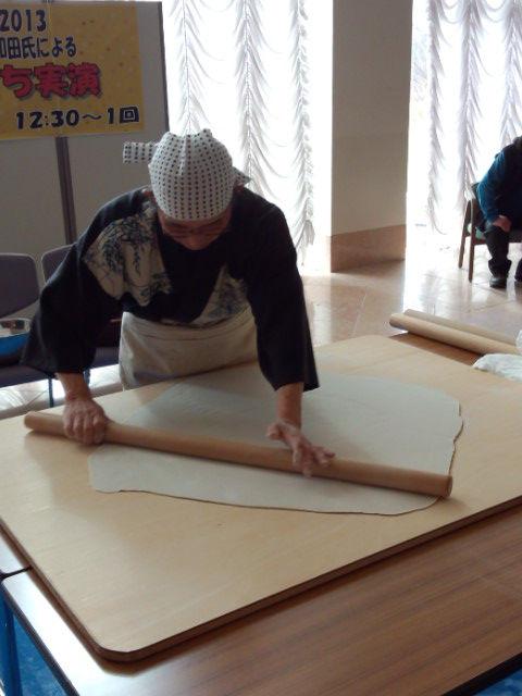 天文台のあるペンション カレワラ 和田さんの蕎麦打ち