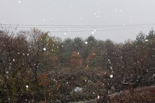 裏磐梯 五色沼 初雪