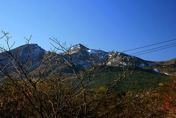 磐梯山の初冠雪