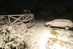 11月3日五色沼初雪