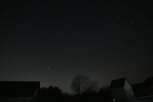 五色沼の星空
