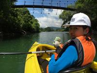 裏磐梯でカヌー体験